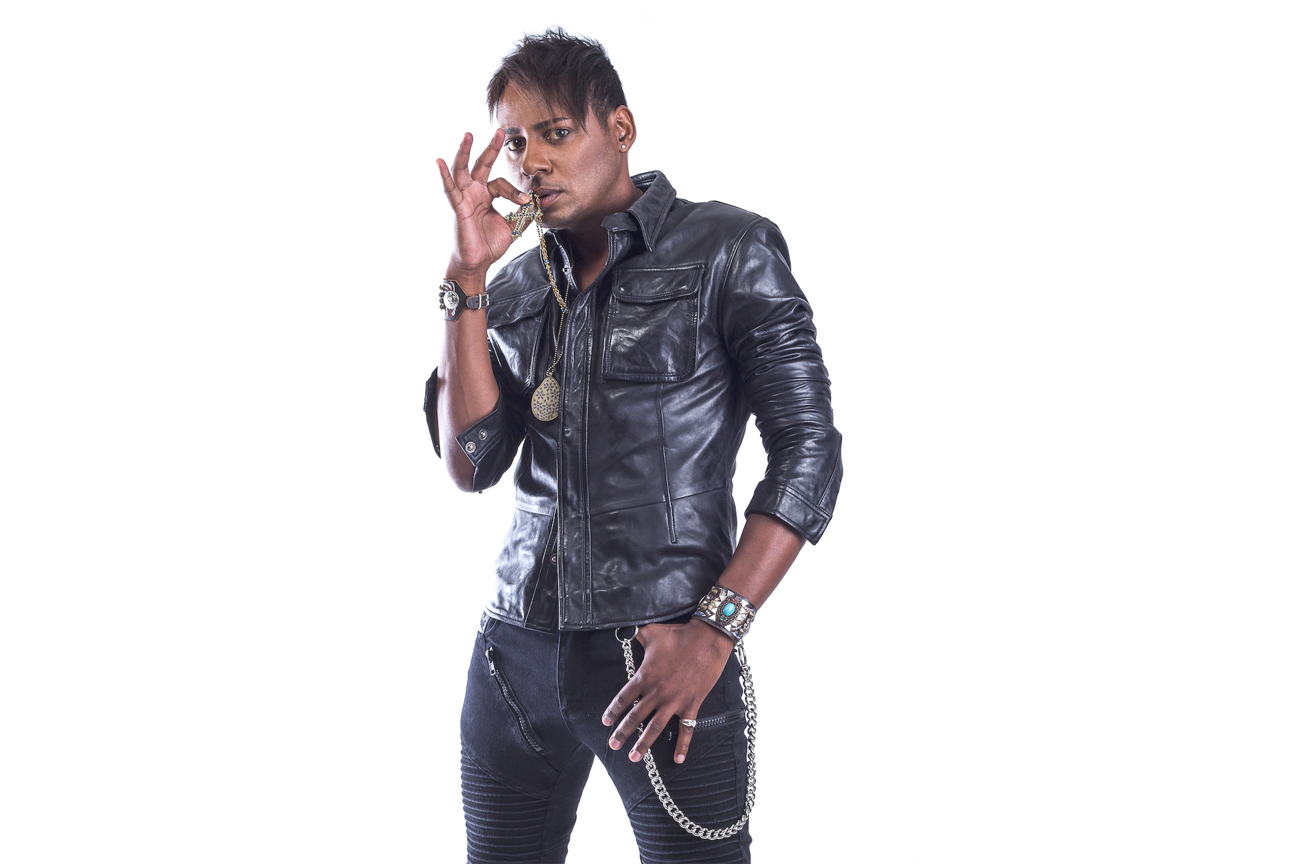 Horacio Leather Jacket Crucifix
